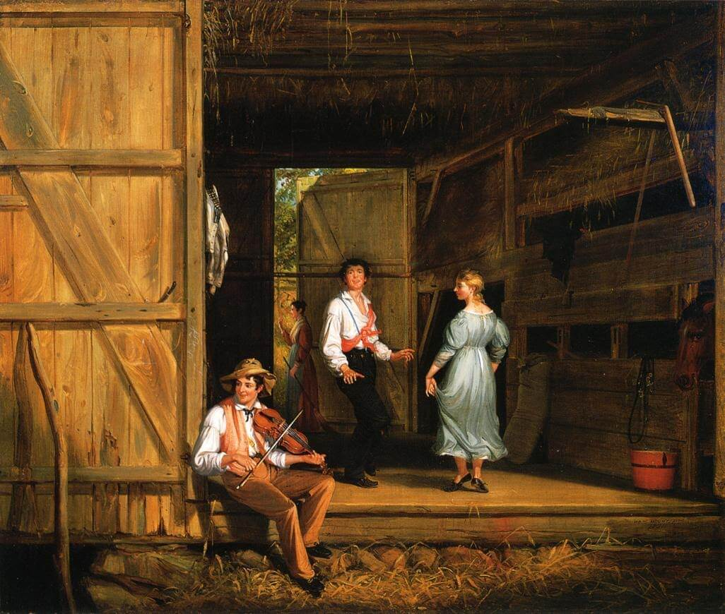 Dancing on the Barn Floor Painting - 1831