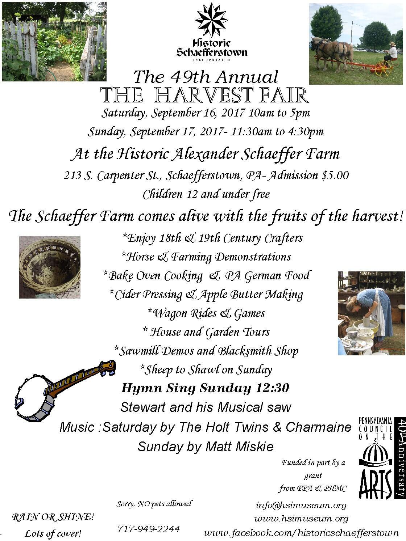 2017 Fall Harvest Fair Flyer
